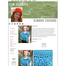 Kimane Designs - Paper Dolls Shawlette Crochet Pattern