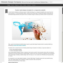 Website Design Company: Custom web designs template for a responsive website