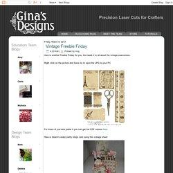 Gina's Designs: Vintage Freebie Friday