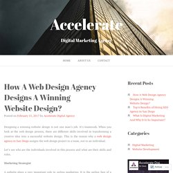 How A Web Design Agency Designs A Winning Website Design?