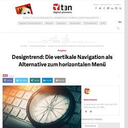 Designtrend: Die vertikale Navigation als Alternative zum horizontalen Menü