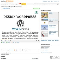 Design Wordpress – Wordpress Theme Download