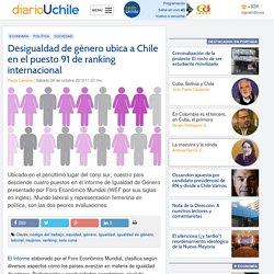 Desigualdad de género ubica a Chile en el puesto 91 de ranking internacional
