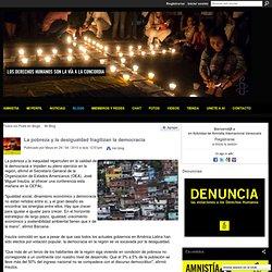 La pobreza y la desigualdad fragilizan la democracia - Activistas Amnistia Internacional Venezuela