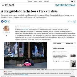 A desigualdade racha Nova York em duas