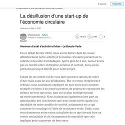 La désillusion d'une start-up de l'économie circulaire