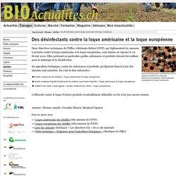 BIO ACTUALITES (CH) - 2010 - Des désinfectants contre la loque américaine et la loque européenne