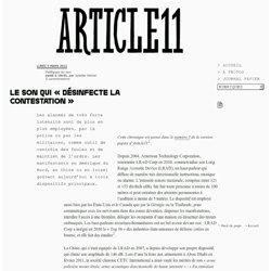 Le son qui « désinfecte la contestation » - Juliette Volcler