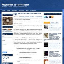 Guide pratique: Désinfection chimique de l'eau ~ Préparation et survivalisme