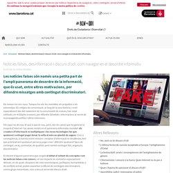 Noticies falses, desinformació i discurs d'odi: com navegar en el desordre informatiu - BCNvsODI