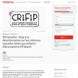 @France5tv : Stop à la désinformation sur les violences sexuelles faites aux enfants ! @brunopatino @Fabarol