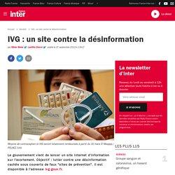 IVG: un site contre la désinformation
