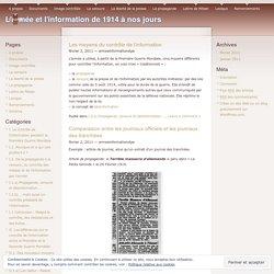I.2.a) Propagande, censure et désinformation …