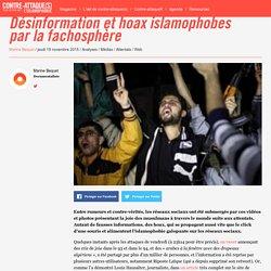 Désinformation et hoax islamophobes par la fachosphère