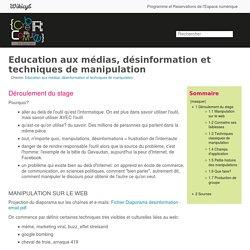 Education aux médias, désinformation et techniques de manipulation - Wiki