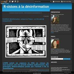 SCANDALE désinformation, censure en France : Le CSA saisi de manquements