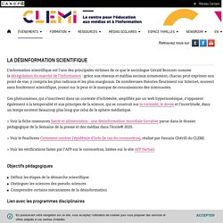 La désinformation scientifique- Cas du Covid-19 - CLEMI