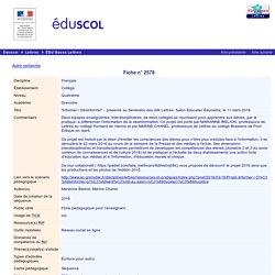 """EDU'bases lettres - """"Informer / Désinformer"""" - présenté au Séminaire des IAN Lettres- Salon Éducatec Éducatice, le 11 mars 2016"""