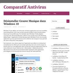 Désinstaller Groove Musique dans Windows 10