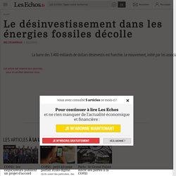 Le désinvestissement dans les énergies fossiles décolle