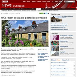 UK's 'most desirable' postcodes revealed