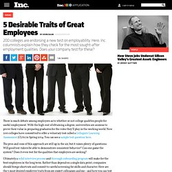 5 Desirable Traits of Great Employees