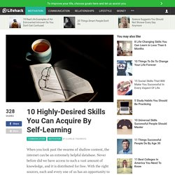 10 Highly-Desired Skills You Can Acquire By Self-Learning