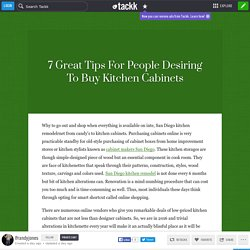 7 Great Tips For People Desiring To Buy Kitchen Cabinets