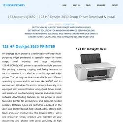 123.hp.com/dj3630 – HP Deskjet 3630 Setup, Driver Download & Install