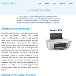 123.hp.com/dj2130 Setup – HP DESKJET 2130 Setup, Install & Driver Download