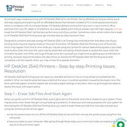 HP Deskjet 2540 Not Printing