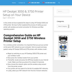 HP Deskjet 3050 Wireless Setup 1855-788-2810 Connect 3750 to Wi-Fi