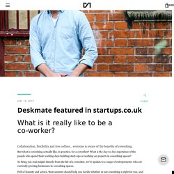 Deskmate featured in startups.co.uk