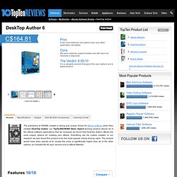 DeskTop Author 2012 - TopTenREVIEWS