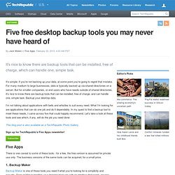 Five free desktop backup tools you may never have heard of