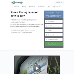 Mikogo: Free Online Meetings