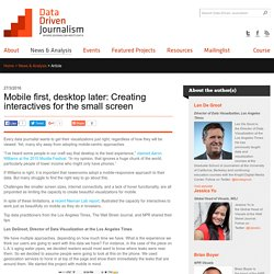 Mobile first, desktop later: Creating interactives for the small screen