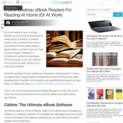 6 Best Desktop eBook Readers For Reading At Home (Or At Work)