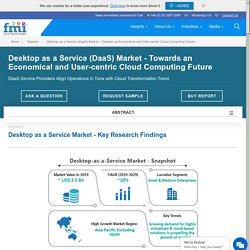 Desktop as a Service (DaaS) Market – Towards an Economical and User-centric Cloud Computing Future