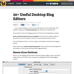 20+ Useful Desktop Blog Editors