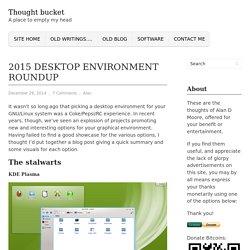 2015 Desktop Environment roundup