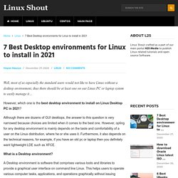 7 Best Desktop environments for Linux to install in 2021 - Linux Shout