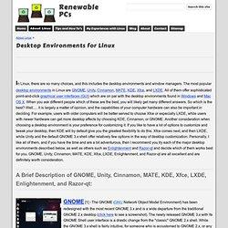Desktop Environments for Linux - Renewable PCs