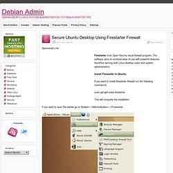 Secure Ubuntu Desktop Using Firestarter Firewall