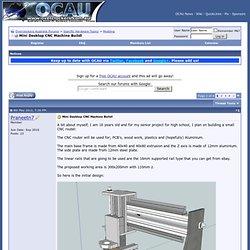 Mini Desktop CNC Machine Build!