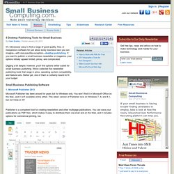 5 Desktop Publishing Tools for Small Business