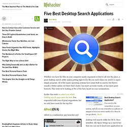 Five Best Desktop Search Applications