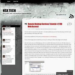 Remote Desktop Services Tutorial #2 (RD Web Access)