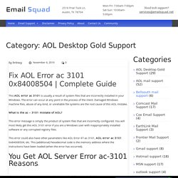 Get Soluions for all Aol Desktop gold Issues