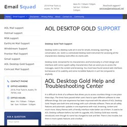 Aol Gold Help & Troubleshooting Center